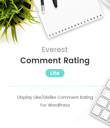 Display Like/Dislike Comment Rating For WordPress – Everest Comment Rating Lite