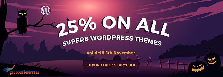 Pixel Emu - WordPress Deals and Discounts for Halloween