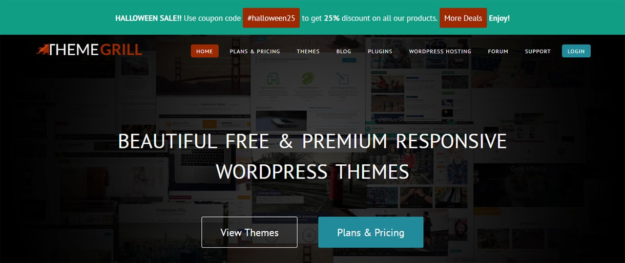 ThemeGrill - WordPress Deals and Discounts for Halloween 2017