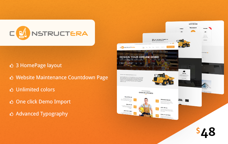 Construction & Business WordPress Theme – Constructera