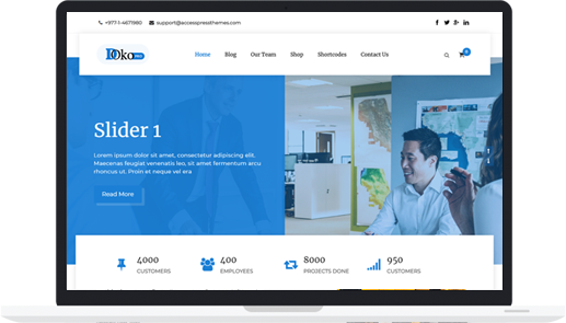Material Design WordPress Corporate Theme – Doko Pro