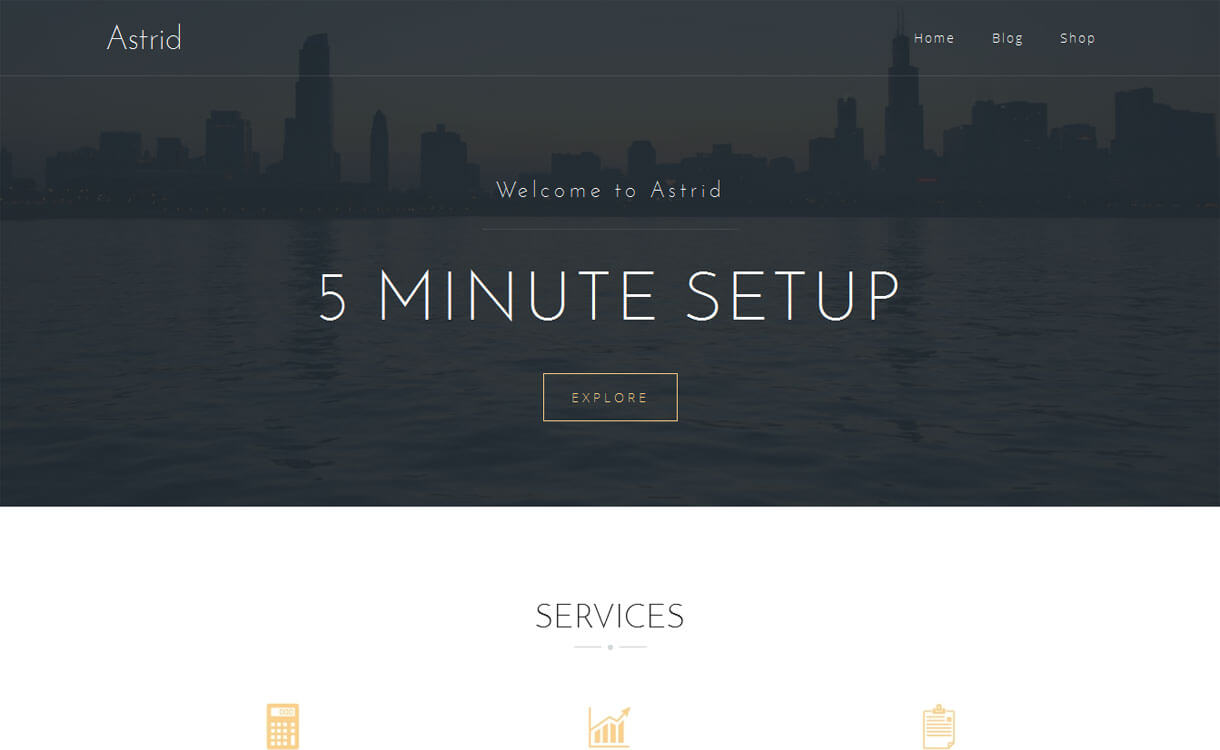 Astrid-Free Construction WordPress Theme