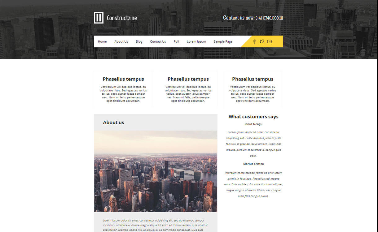 Constructzine-Free Construction WordPress Theme