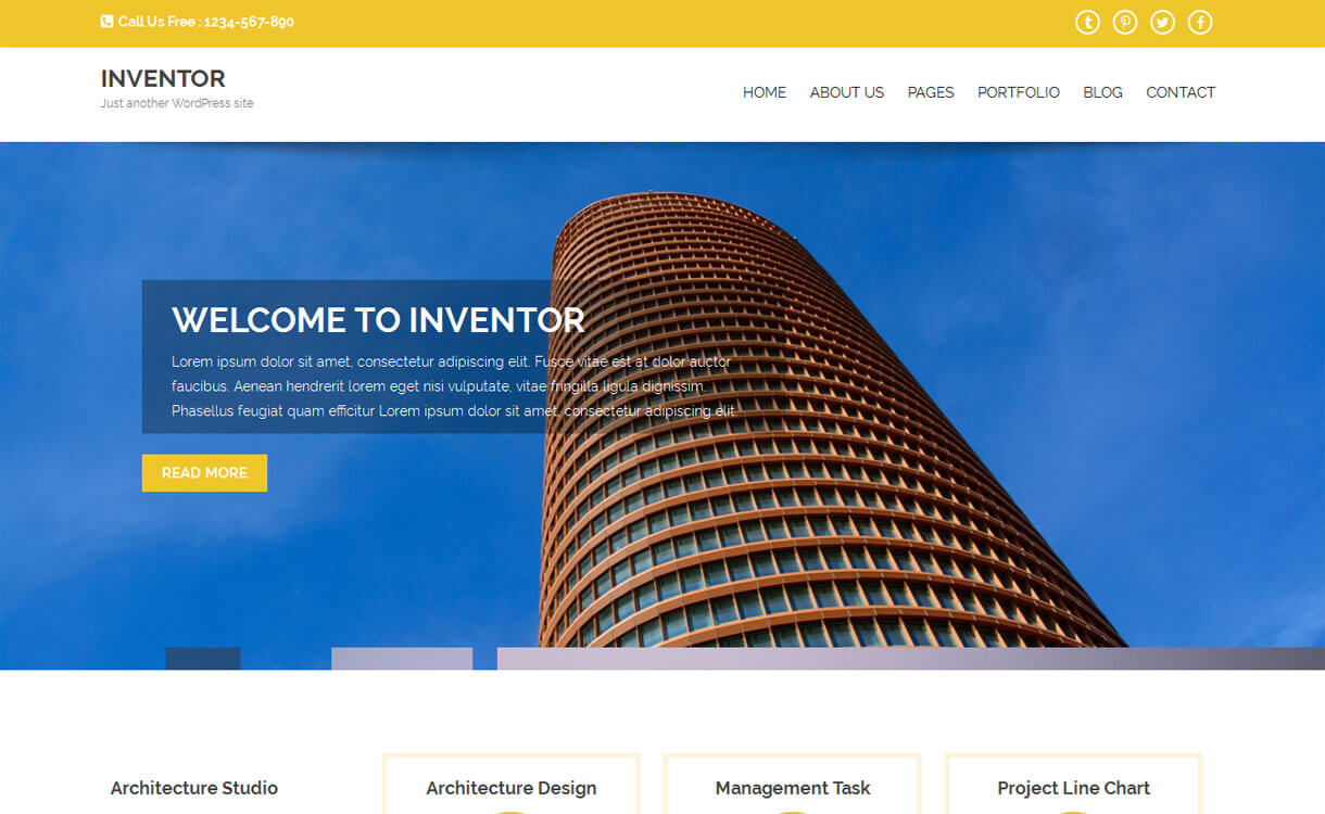Inventor-Free Construction WordPress Theme
