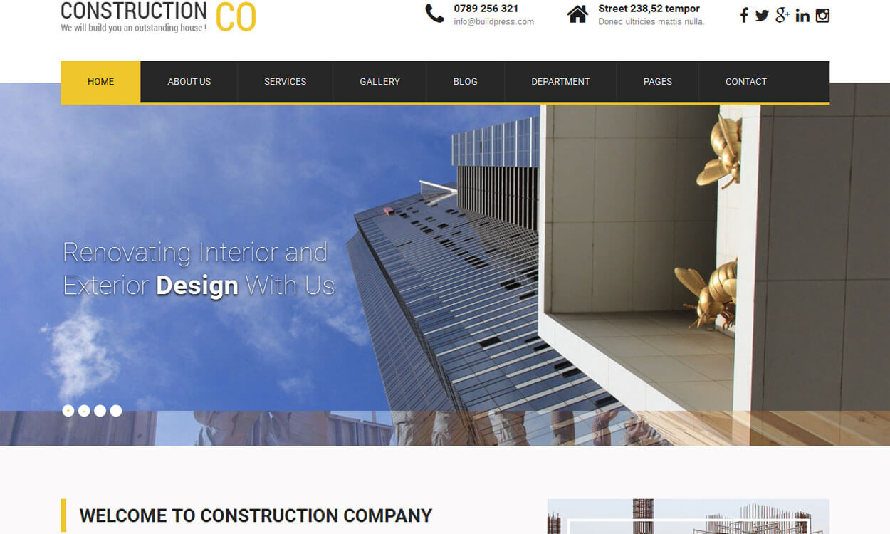 SKT Construction Lite-Free Construction WordPress Theme