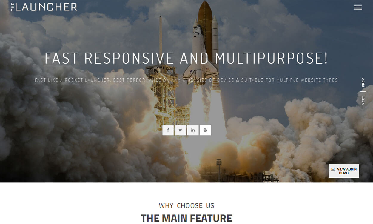 The Launcher-Free Construction WordPress Theme