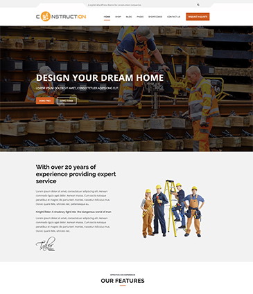 Construction & Business WordPress Theme – Construction Pro