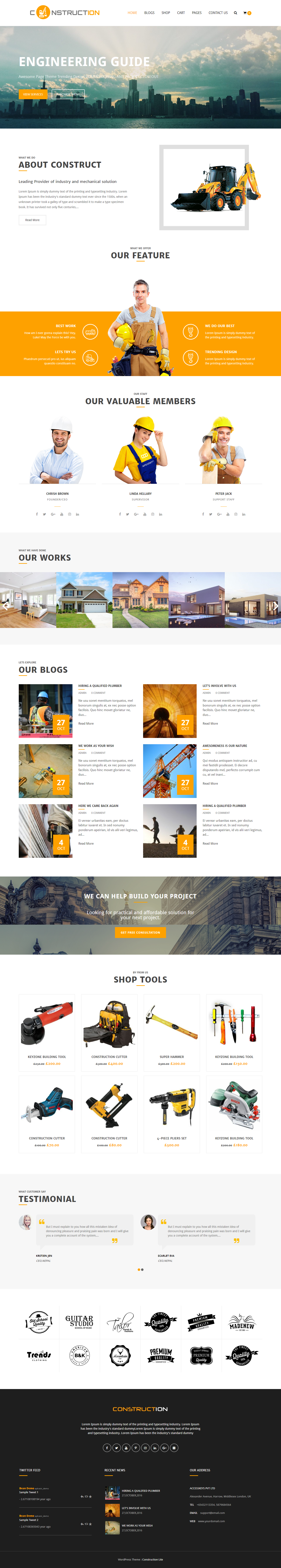 Construction Lite - Full Page Preview