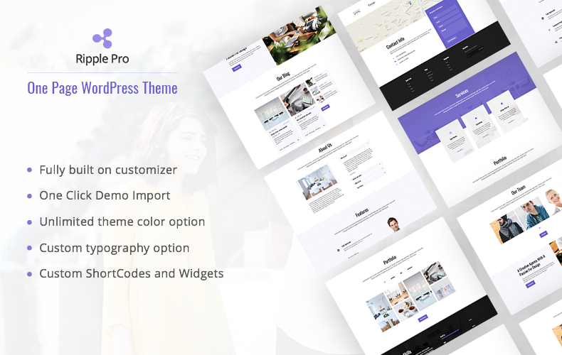 One Page Premium WordPress Theme – Ripple Pro