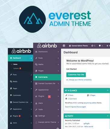 WordPress Backend Customizer – Everest Admin Theme