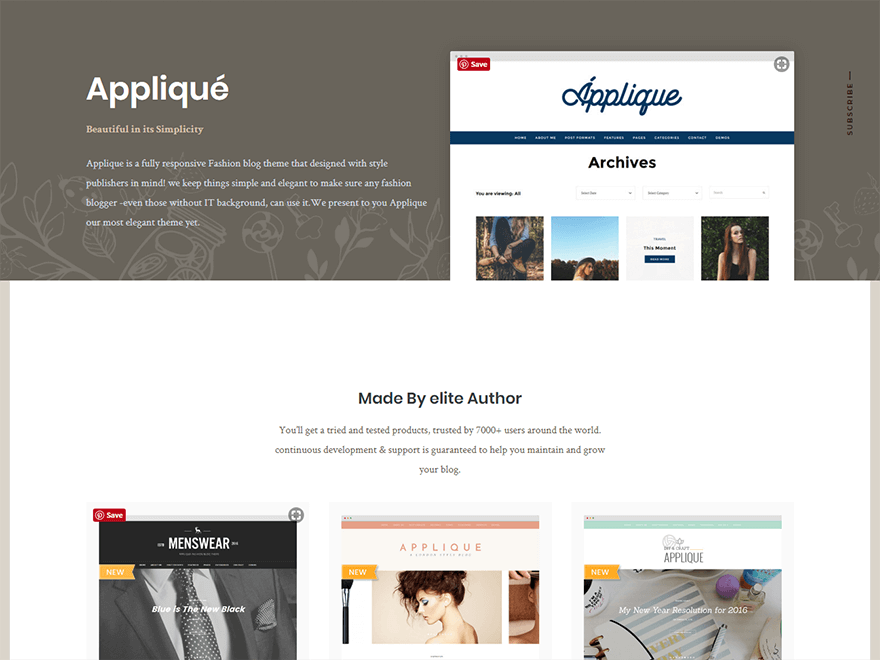 Applique-Best Blog WordPress Themes
