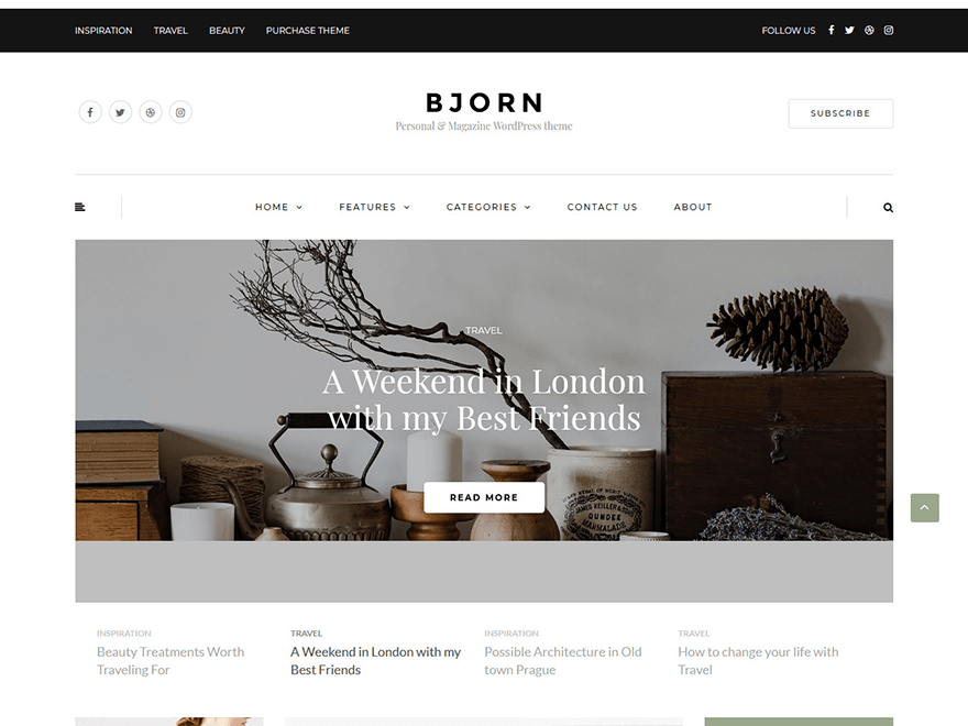 Bjorn-Best Blog WordPress Themes