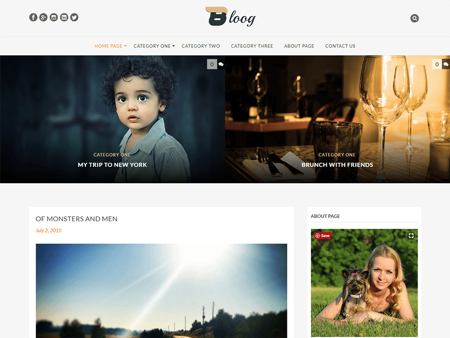 Bloog-Best Blog WordPress Themes