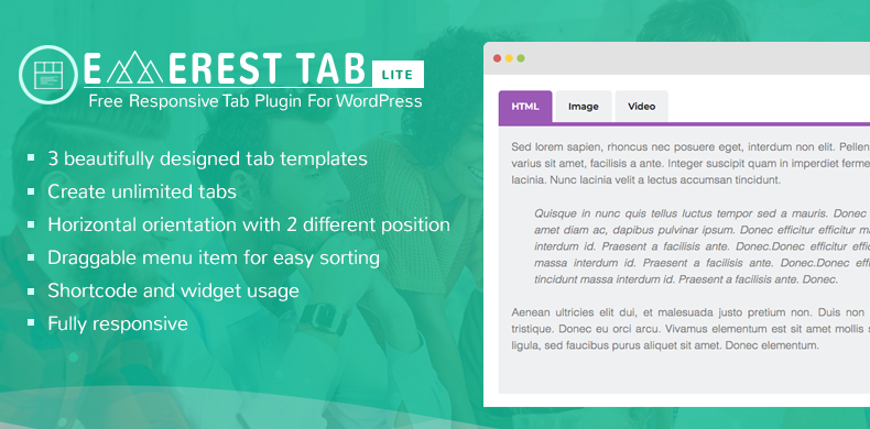 Free Responsive Tab Plugin For WordPress – Everest Tab Lite