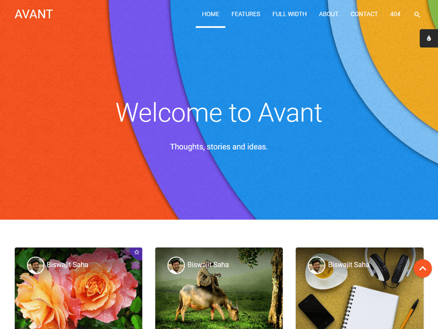 Avant-Best Premium Material design WordPress Themes 2018