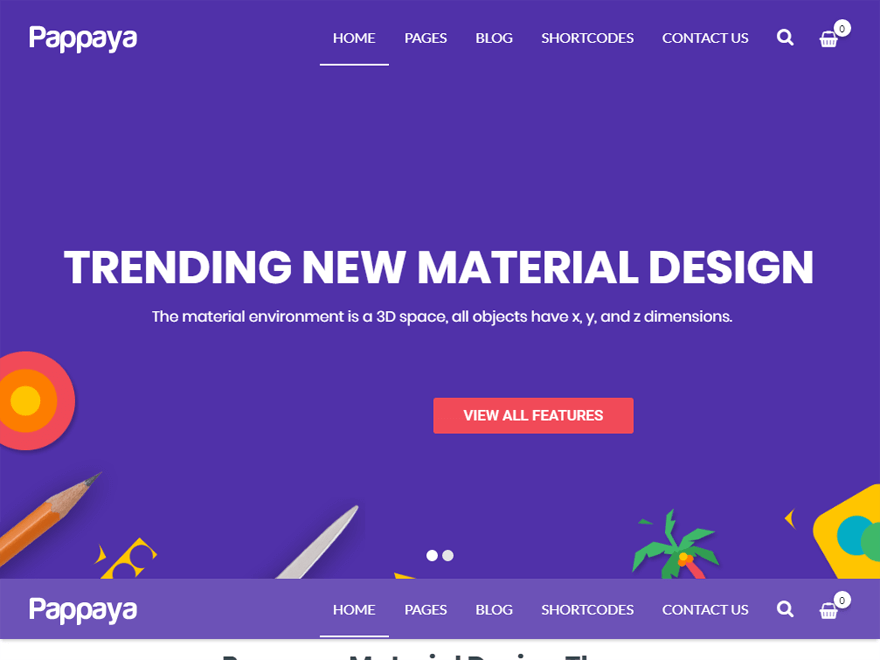 Pappaya-Best Premium Material design WordPress Themes 2018