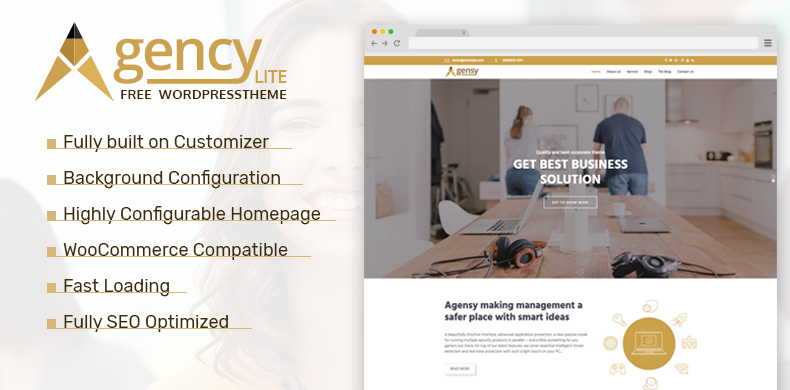 Business WordPress Theme – Agency Lite