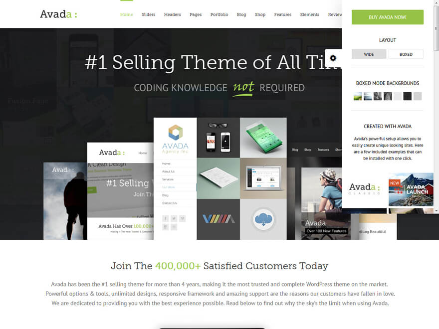 Avada-Fastest Loading WordPress Themes