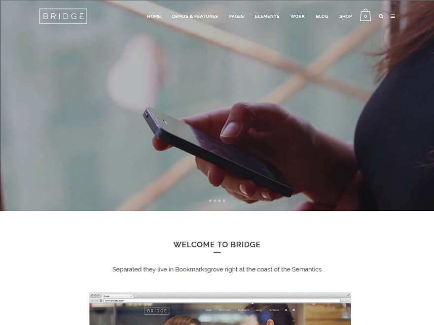Bridge-Fastest Loading WordPress Themes