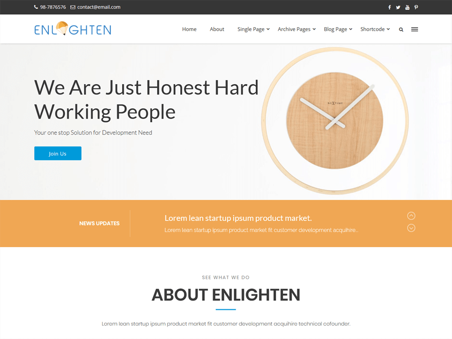 Enlighten Pro-Fastest Loading WordPress Themes