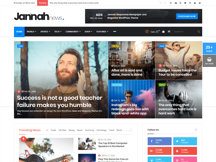 Jannah-Fastest Loading WordPress Themes