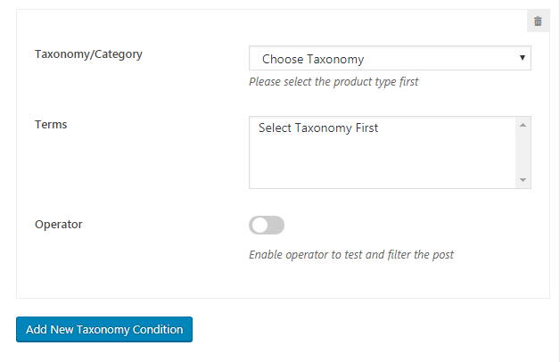 WP Product Gallery Multiple Custom field condition