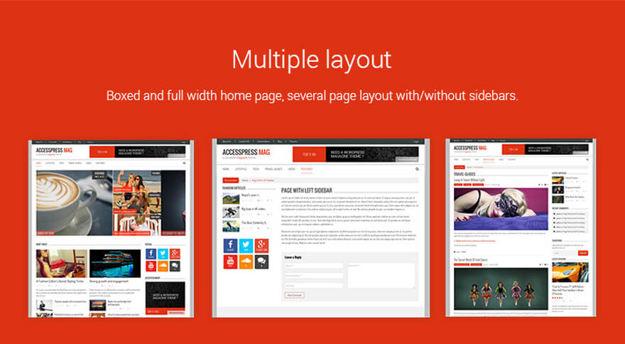 Multiple layouts-news magazine site in WordPress using AccessPress Mag