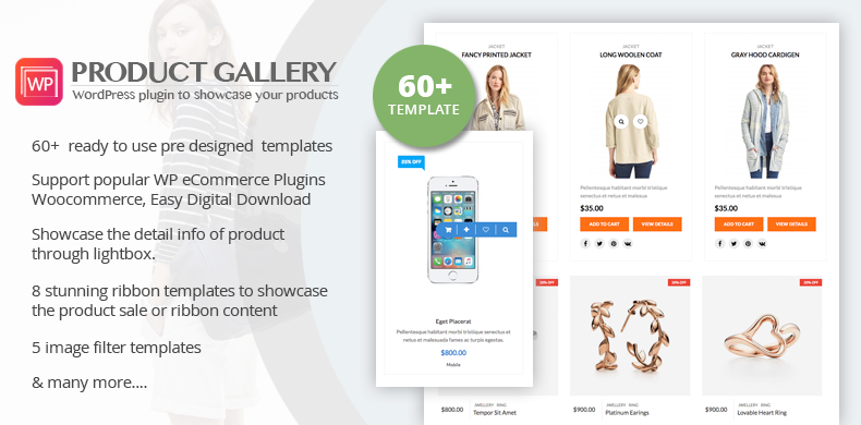 Responsive Products Showcase Listing for WordPress – WP Product Gallery