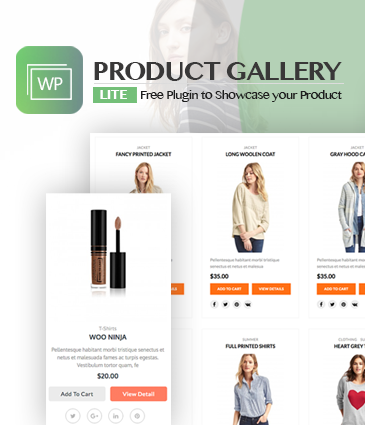 Responsive Products Showcase Listing for WordPress – WP Product Gallery Lite