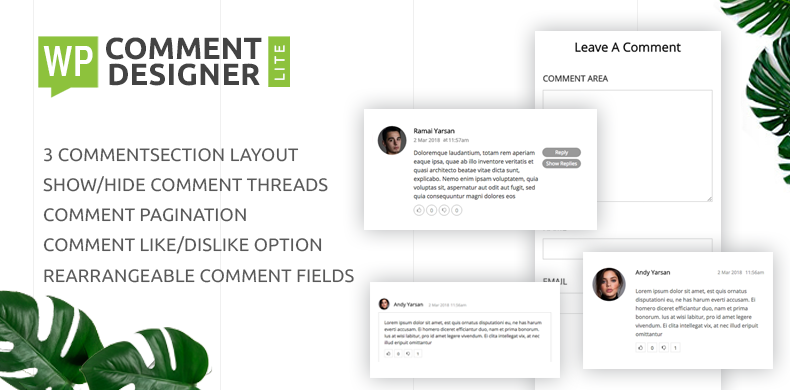 Design WordPress Comments And Comment Form – WP Comment Designer Lite