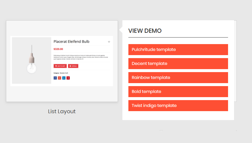 wp product gallery list layout