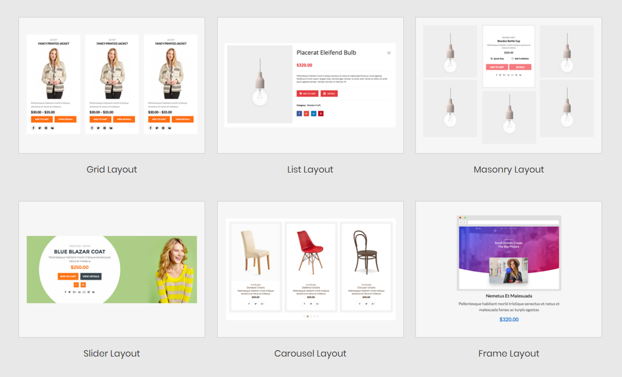 wp product gallery woocommerce layouts