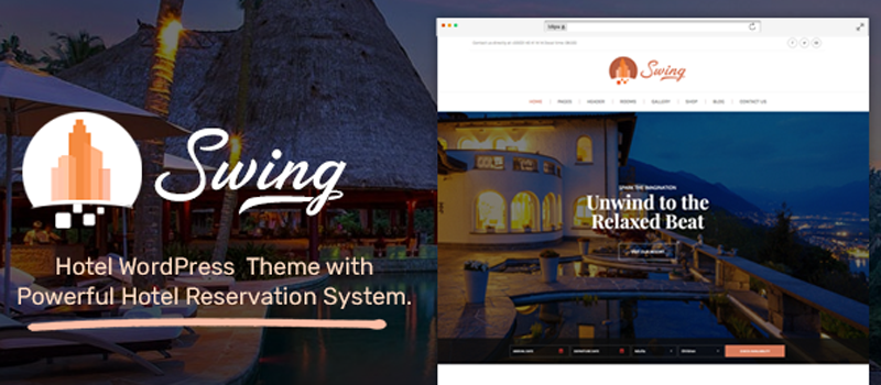 Best Premium Hotel and Resort WordPress Themes