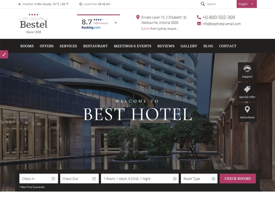 Bestel-Best Premium Hotel and Resort WordPress Themes