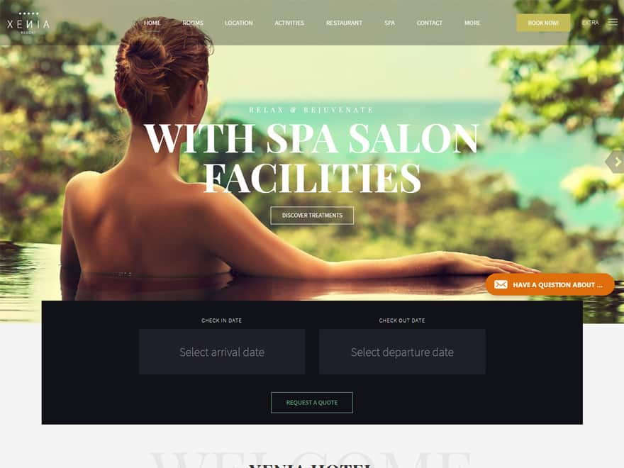 Hotel Xenia-Best Premium Hotel and Resort WordPress Themes