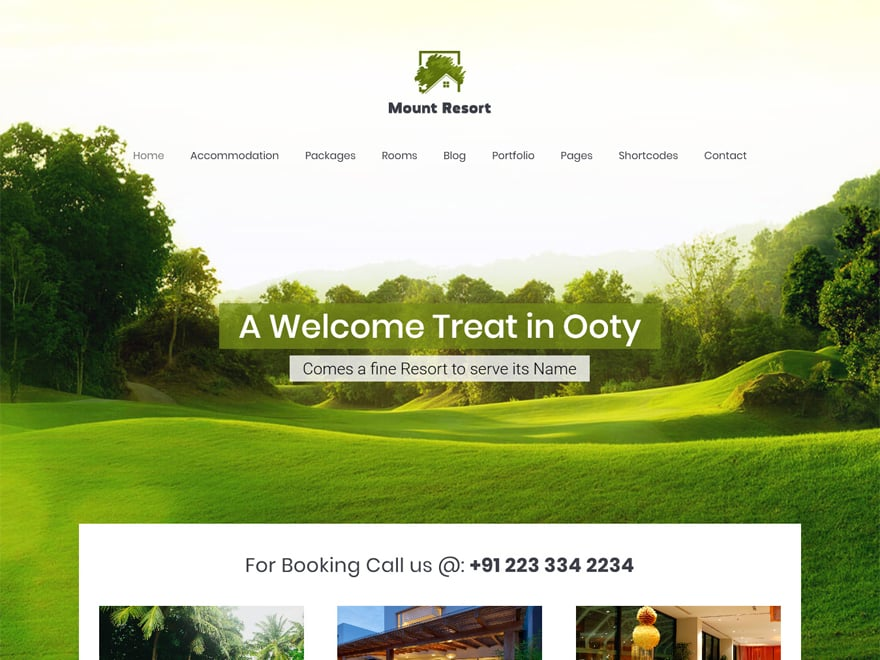 Mount Resort-Best Premium Hotel and Resort WordPress Themes