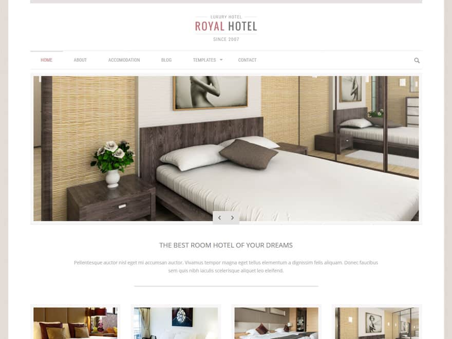Royal-Best Premium Hotel and Resort WordPress Themes