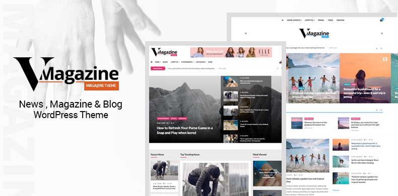 Multi Concept News WordPress Theme – VMagazine