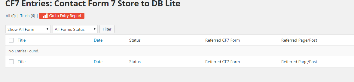 Contact Form 7 Store To DB Lite Plugin Main Page