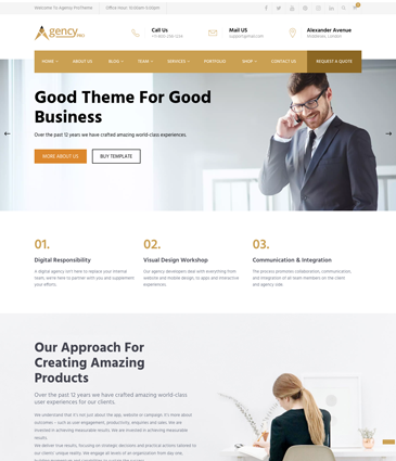 Agency Pro - Business WordPress Theme