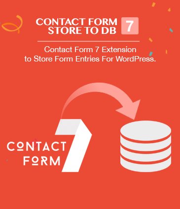Contact Form 7 Extension to Store Form Entries For WordPress – Contact Form 7 Store to DB