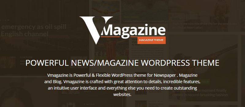 VMagazine: Review - A Perfect Newspaper and Magazine Premium WordPress Theme