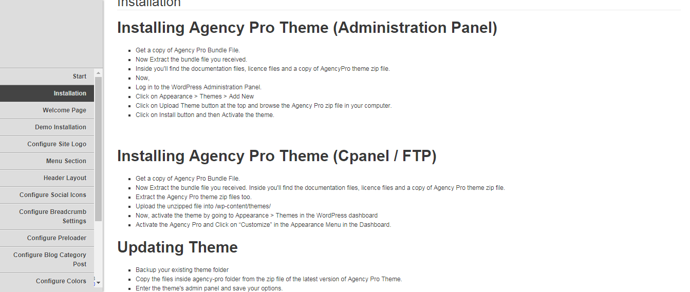 agency pro documentation