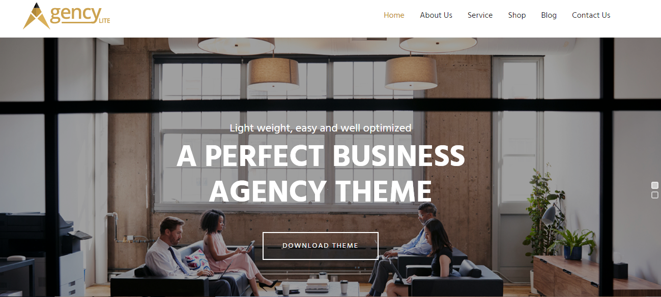 Agency Lite - Free WordPress Business Theme