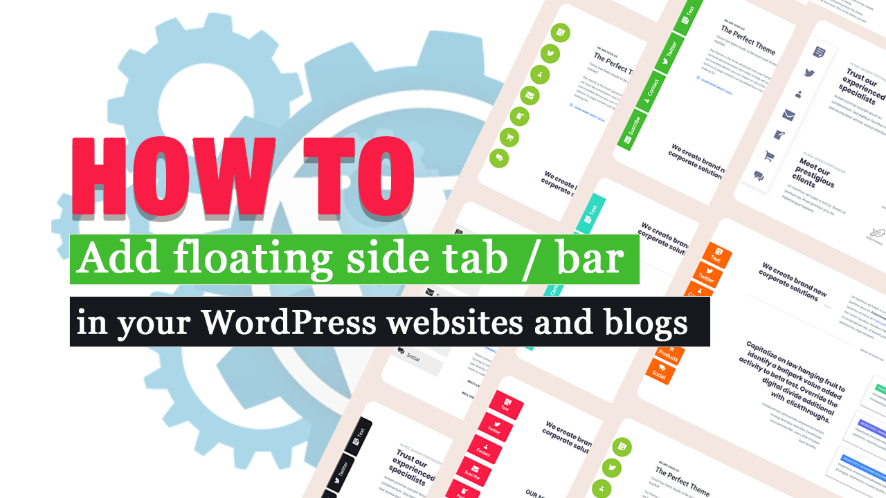 How to add a floating side tab bar in WordPress website blog