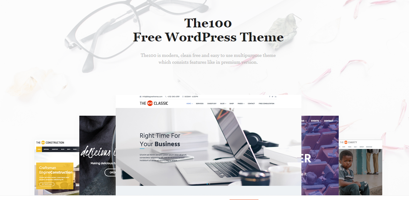 The 100 - Free WordPress Theme