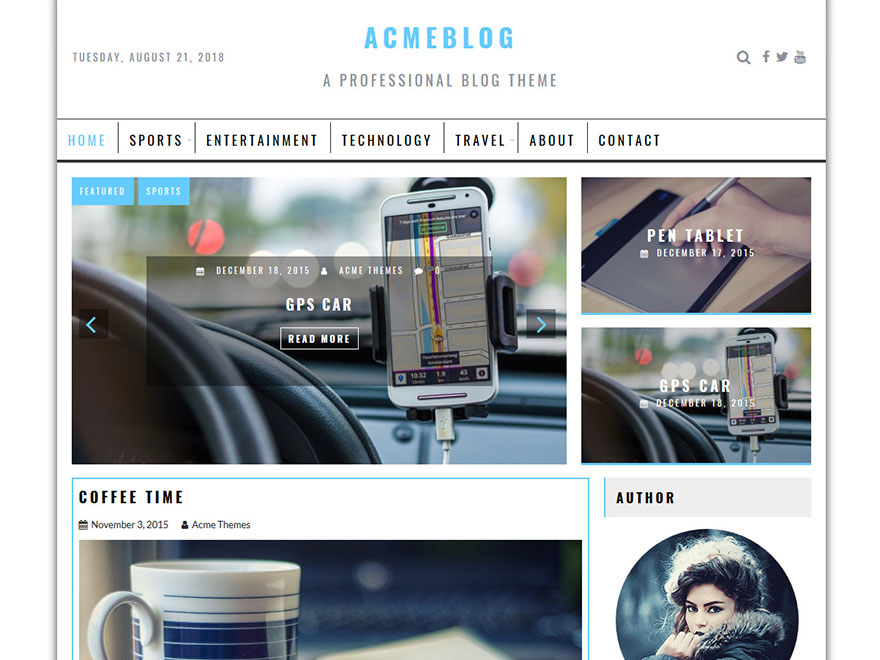 Acme Blog - Most Popular WordPress Blog Themes and Templates (Free)