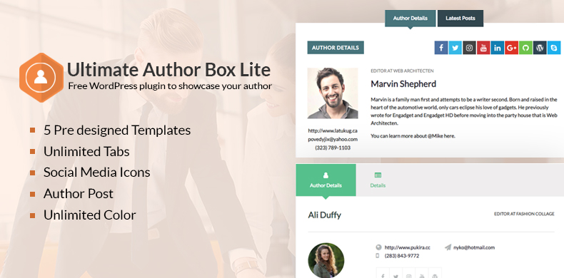 Ultimate Author Box WordPress Plugin