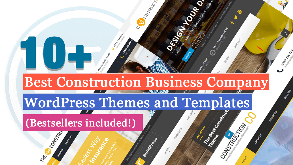 Best Construction Business Company WordPress Themes and Templates