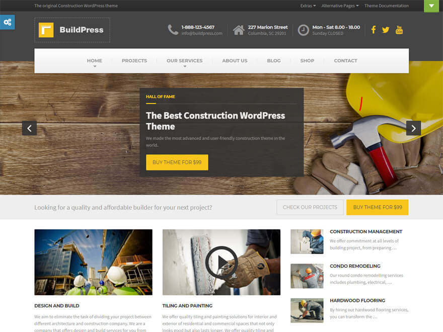 BuildPress - Best Construction Business Company WordPress Themes and Templates